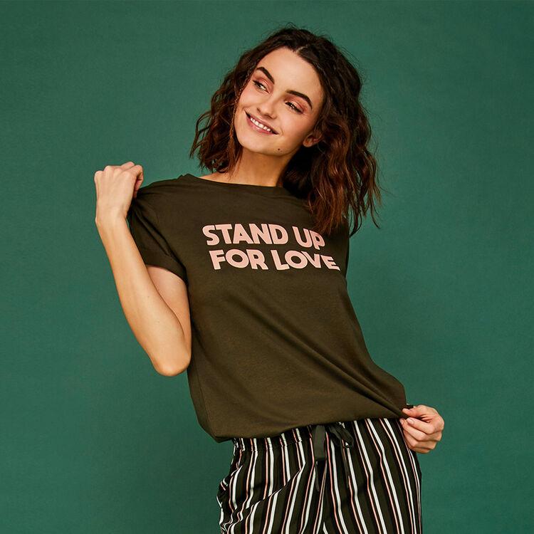 Camiseta caqui standupiz;