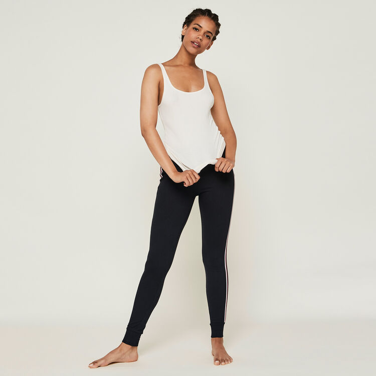 Pantalón de chándal con bandas laterales newazjiz;