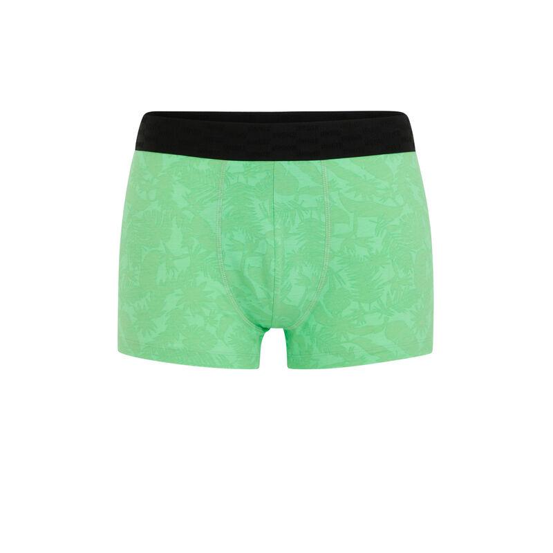 Bóxer de algodón con mensaje - verde manzana;