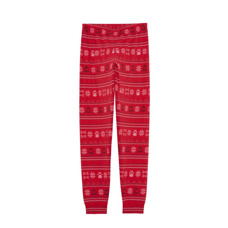 pantalon à motifs jacquard - rouge;