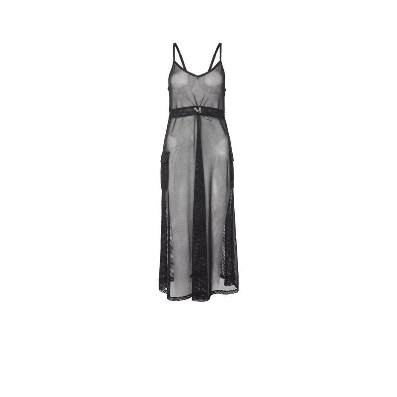 Vestido de rejilla - negro ;