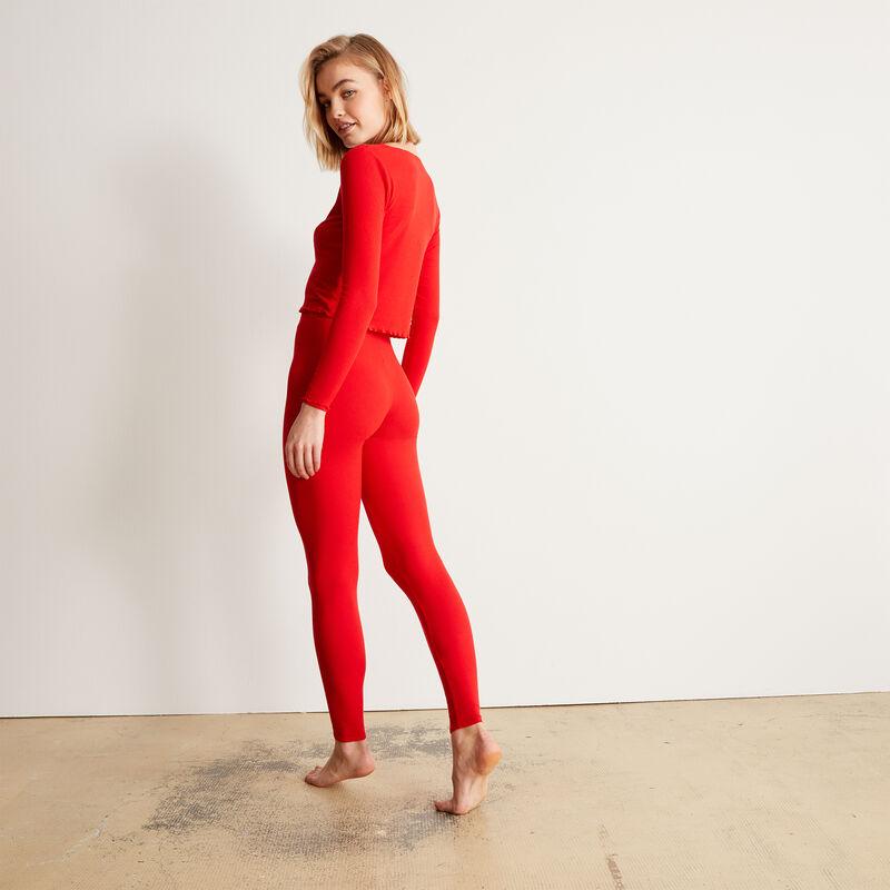 Leggings lisos - rojo;