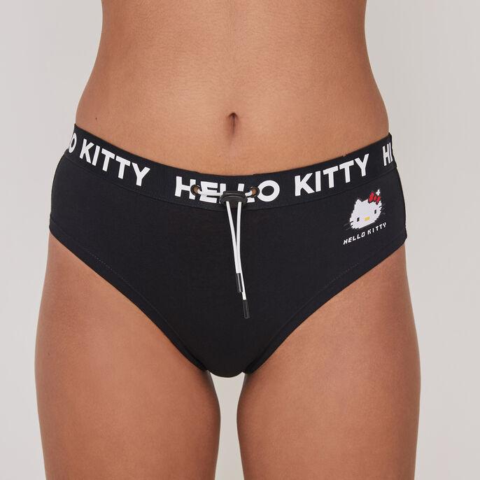 Culotte taille haute imprimé hello kitty hellokittiz noir.