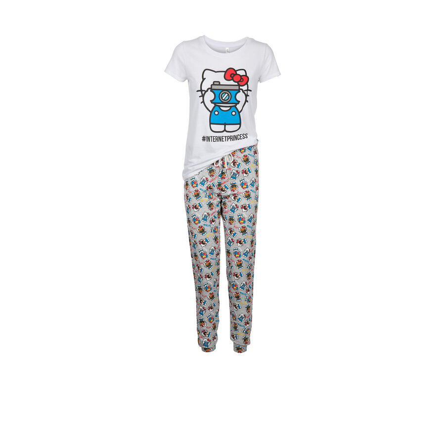 Conjunto de pijama blanco hekitiz;${refinementColor}
