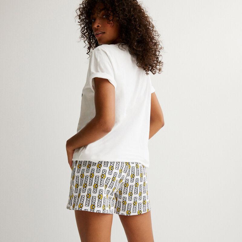 Short con estampado Los Minions - blanco;