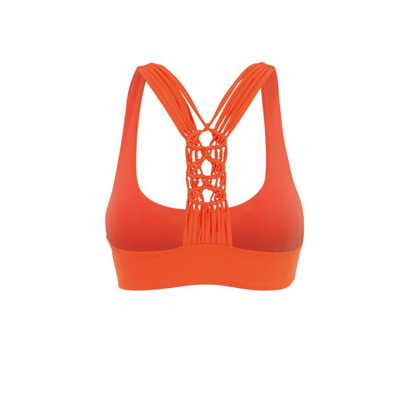 Parte de arriba de bikini bralette naranja africaniz;
