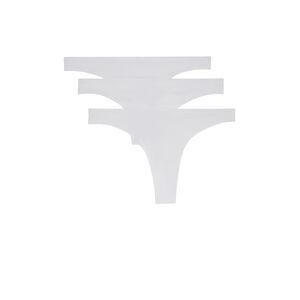 Juego de braguitas tanga de microfibra - blanco