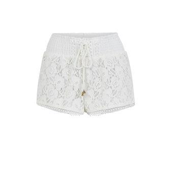 Shorts blanco roto shortiyiz white.