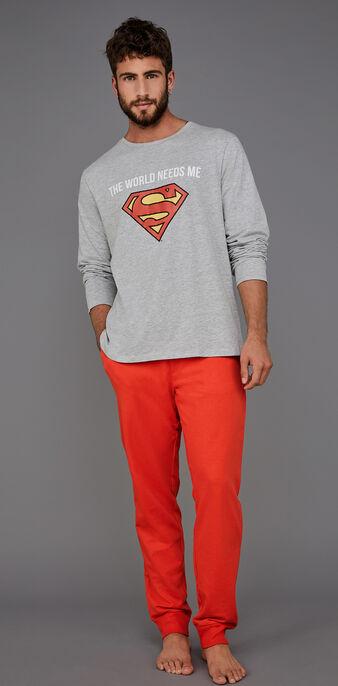 Conjunto de pijama para hombre gris suprakitiz grey.