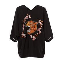 Kimono negro catigriz black.