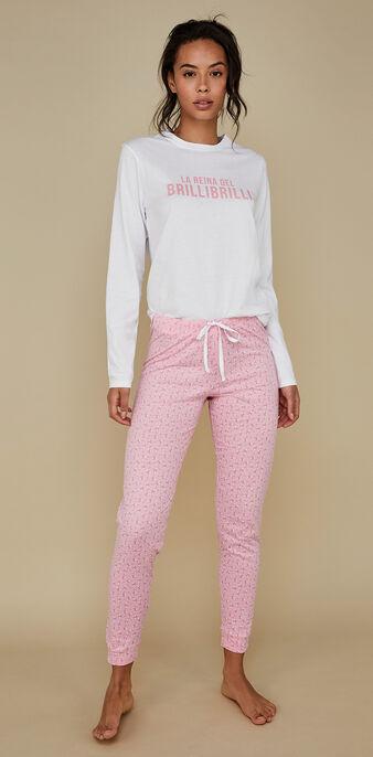 Pijama de manga larga brillibrilliz white.