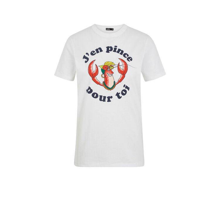 Camiseta blanca estampada Jenpinciz;