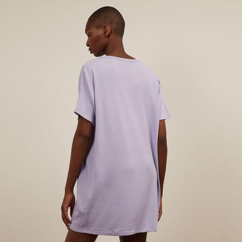 Camiseta larga de manga corta - morado ;