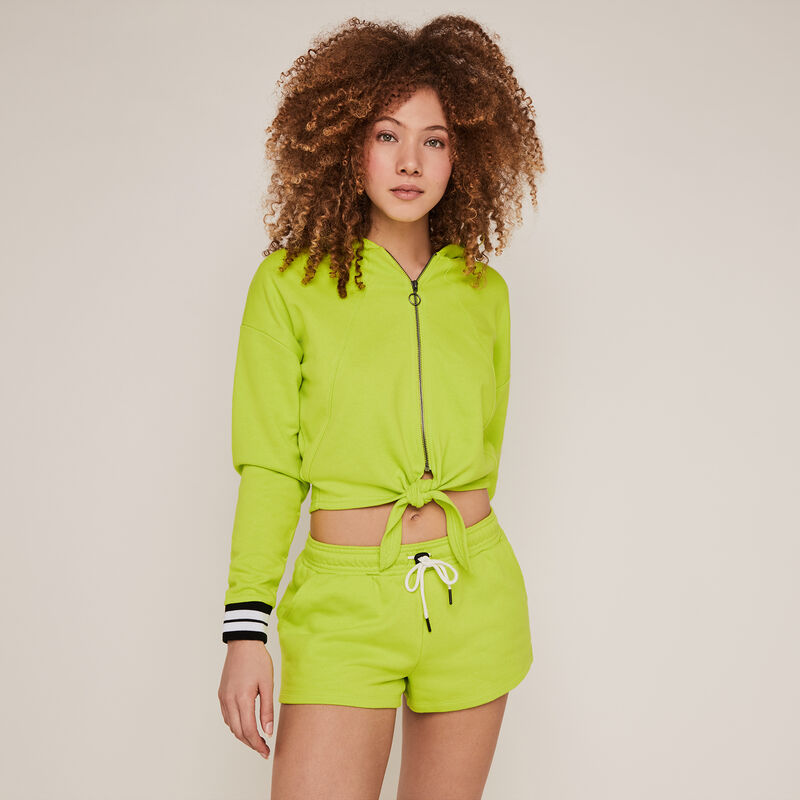 Short de felpa liso - verde;