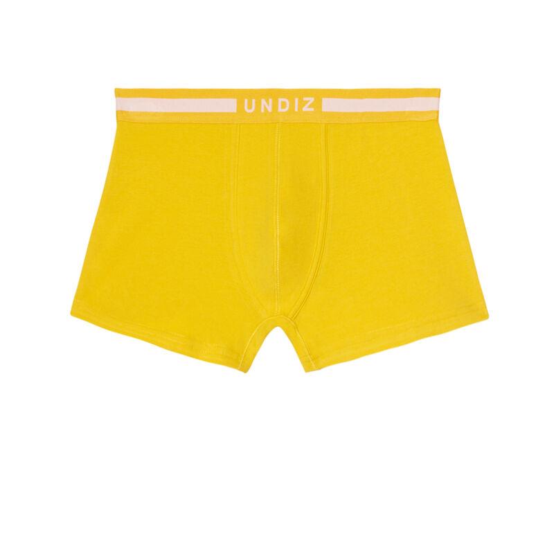 Bóxer liso de algodón - amarillo;
