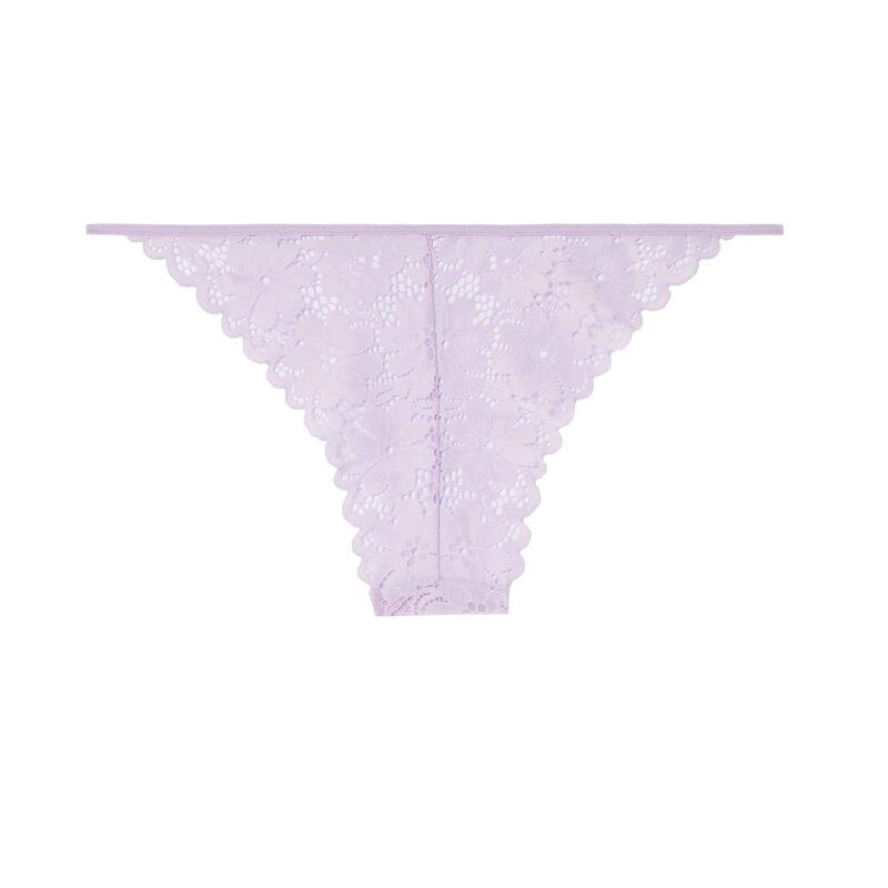 Braguita de encaje bordado - lila;