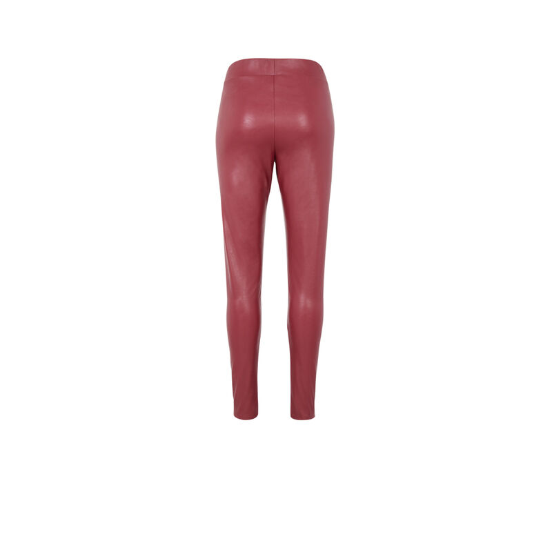 leggings imitación piel - rojo;