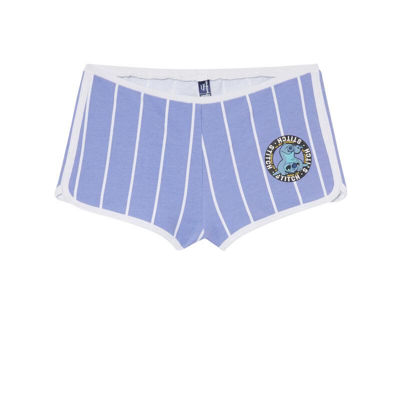 Short con estampado de Stitch - azul;
