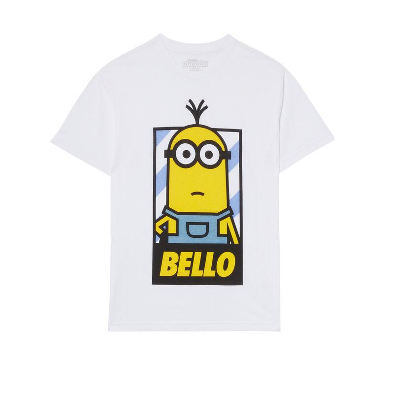 """top Los Minions con mensaje """"Bello"""" - blanco;"""