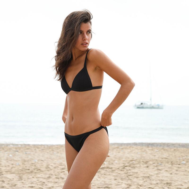 Parte de arriba de bikini triángulo - negro;