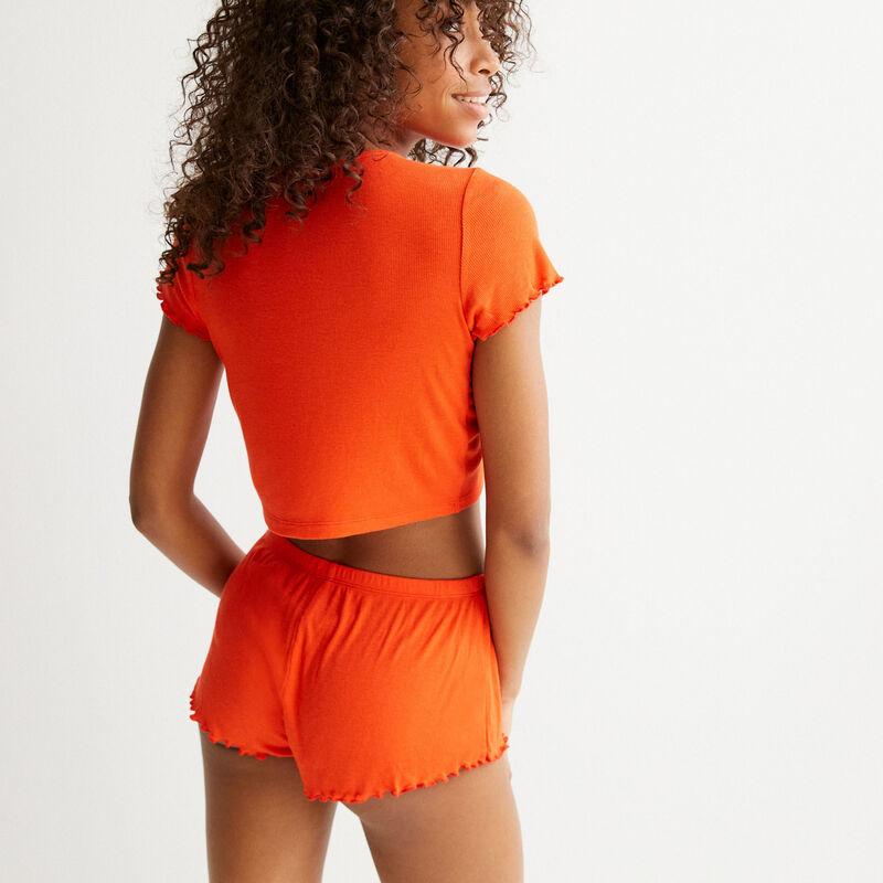 Shorts cortos - rojo;
