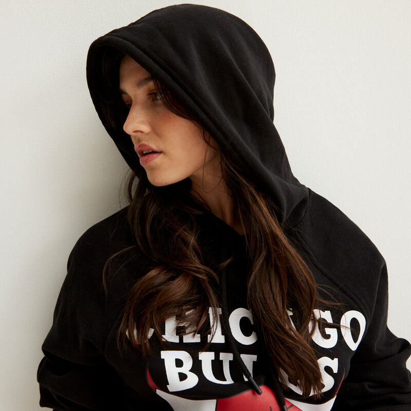 sudadera chicago bulls - negro;