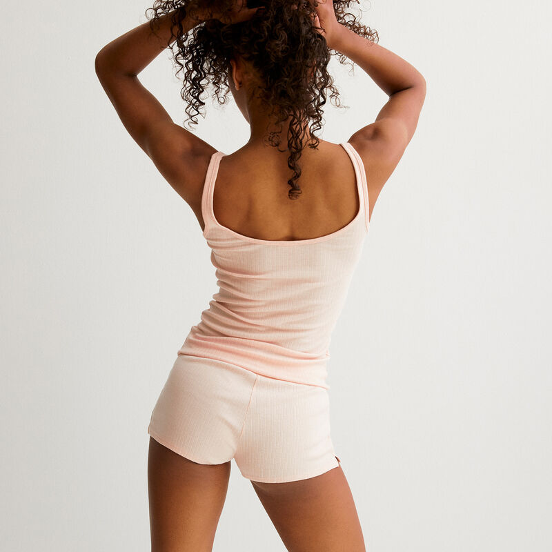 Short corto liso - rosa ;