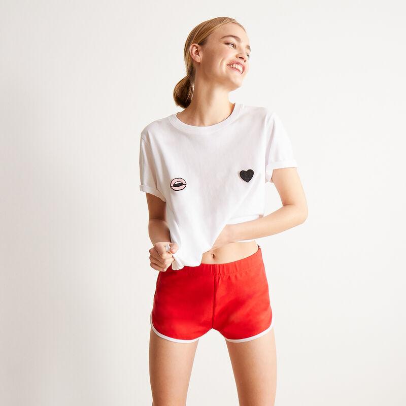Shorts con mensaje p'tit cul - rojo;
