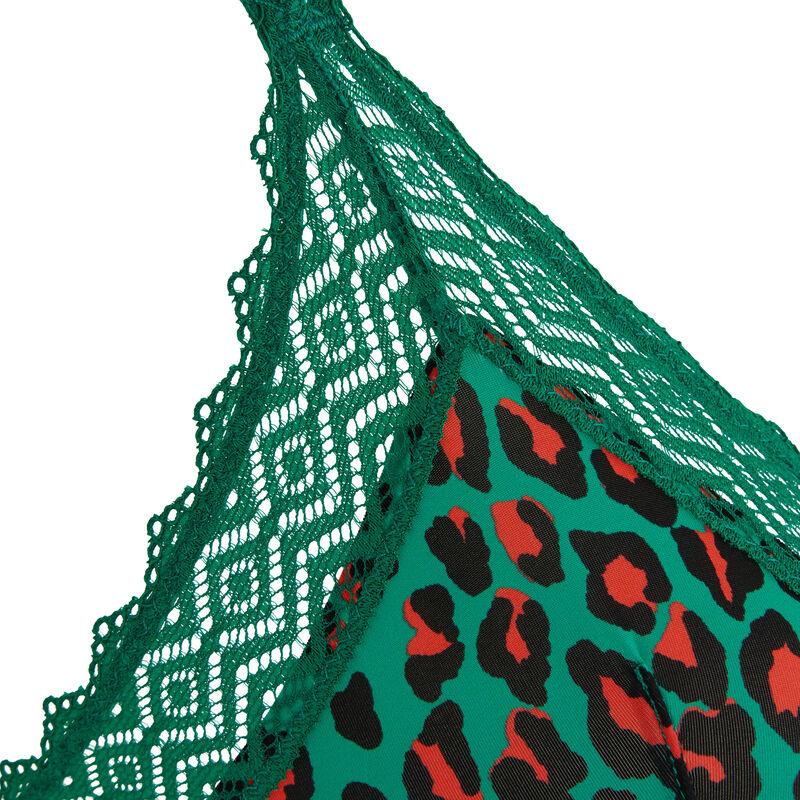 Sujetador triángulo verde esmeralda hindiz;