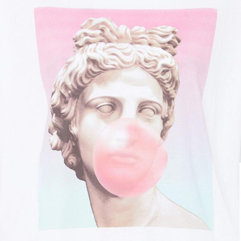 Top con estampado de estatua - blanco;