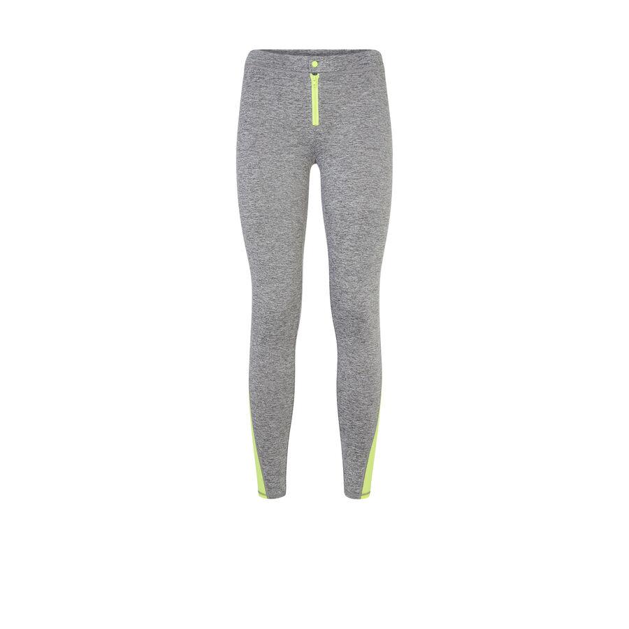 Legging deportivo gris zippiz;
