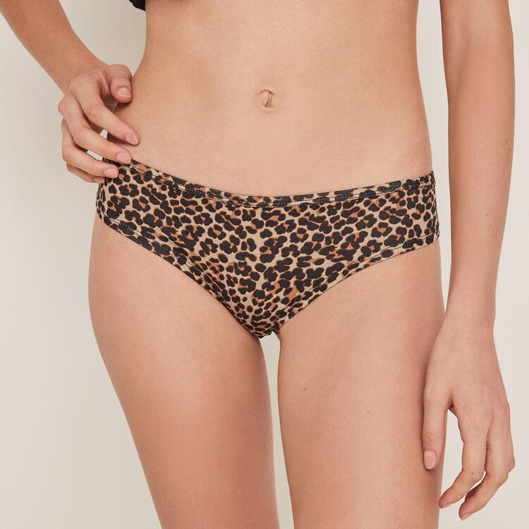 Braguita culotte de algodón con estampado de leopardo Bichtiz;