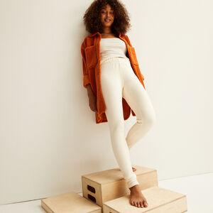 leggings forrados - blanco roto