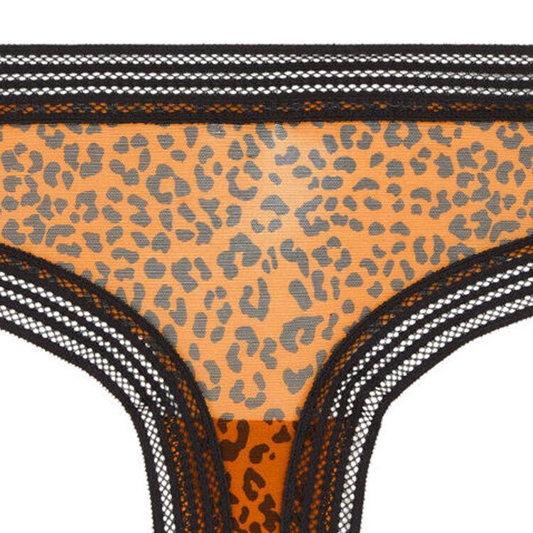 Braguita culotte de tul con estampado leopardo wafiz leopiz;
