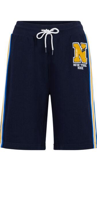 Shorts largos de felpa rivervixiz azul marino.