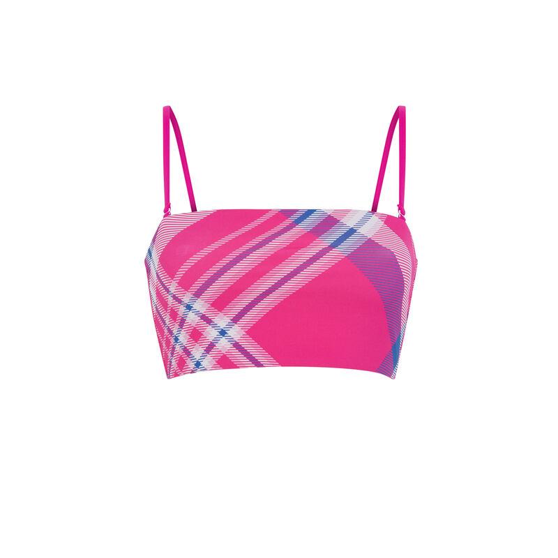 Parte de arriba de bikini bandeau reversible - rosa;