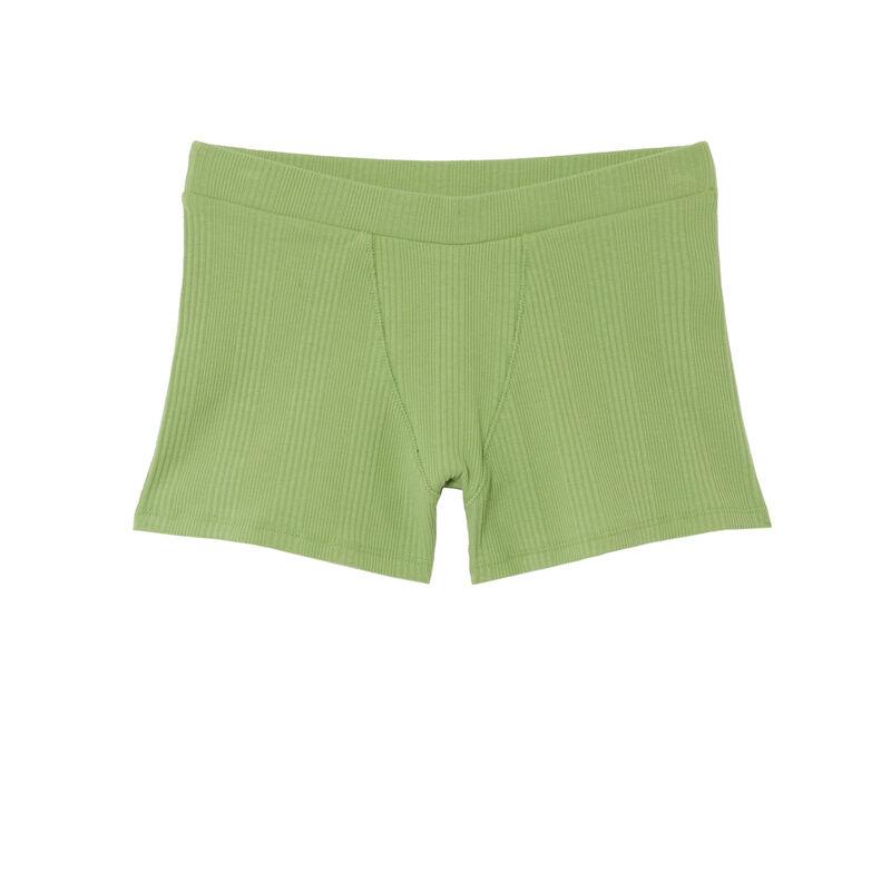 Short unisex de punto liso - verde;