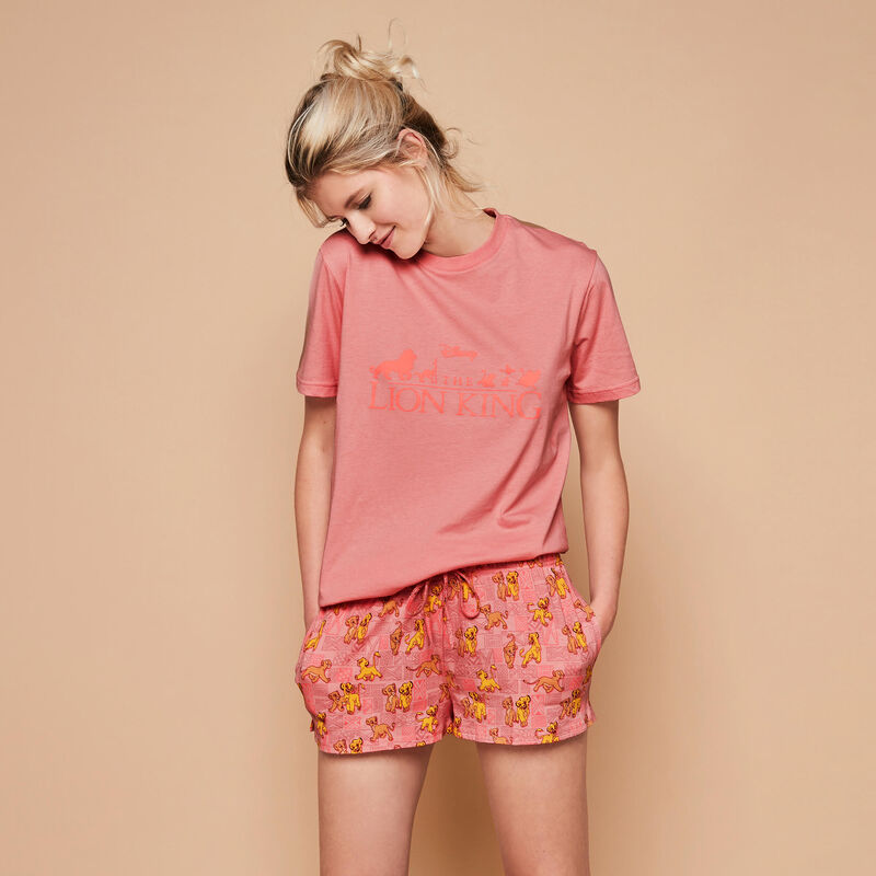 Shorts de rosa envejecido toplioniz;