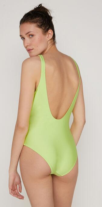 Bañador de una pieza verde flúor flamingiz green.