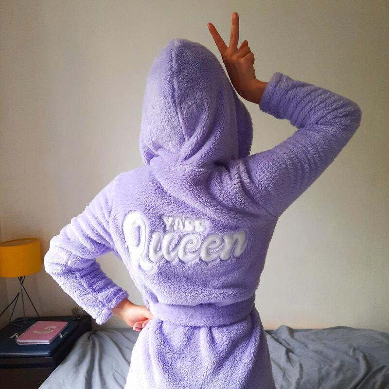 peignoir polaire queen - violet;