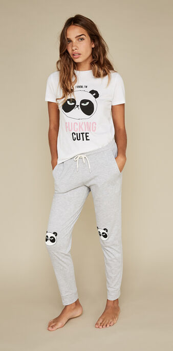 Pantalón gris pandapiliz grey.