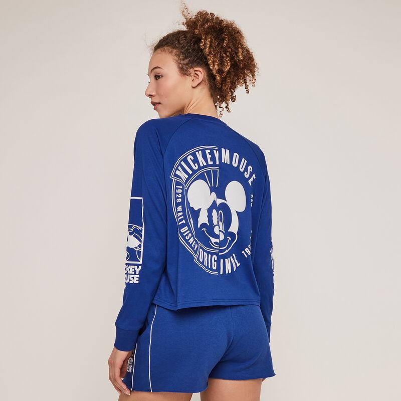 Short con estampado de Mickey - azul ;