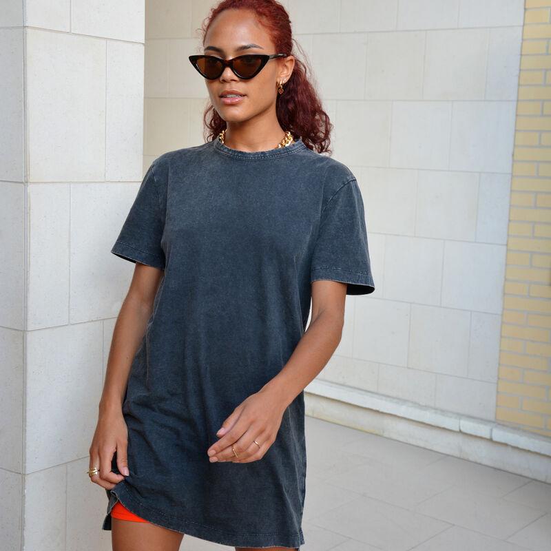 Camiseta larga de manga corta de Mulán - negra;