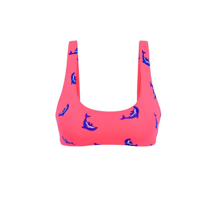 Top de bikini rosa fluorescente Flipperiz;