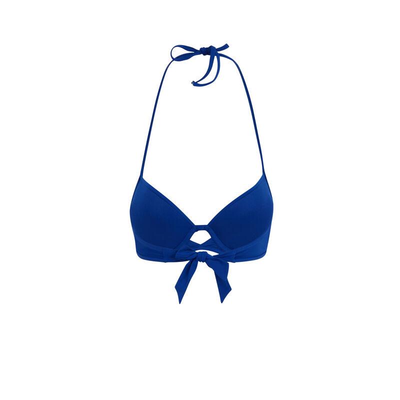 Parte de arriba de bikini push-up azul gabiz;