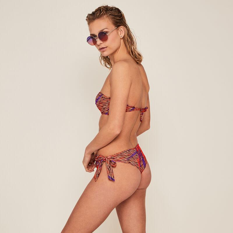 Parte de abajo de bikini braguita brasileña cebra - naranja;