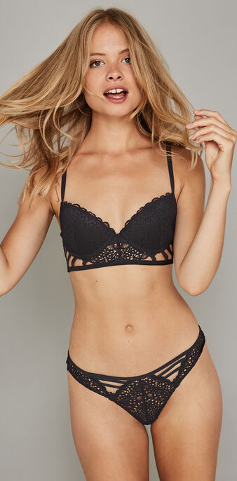Sujetador bustier push-up negro paroliz  black.