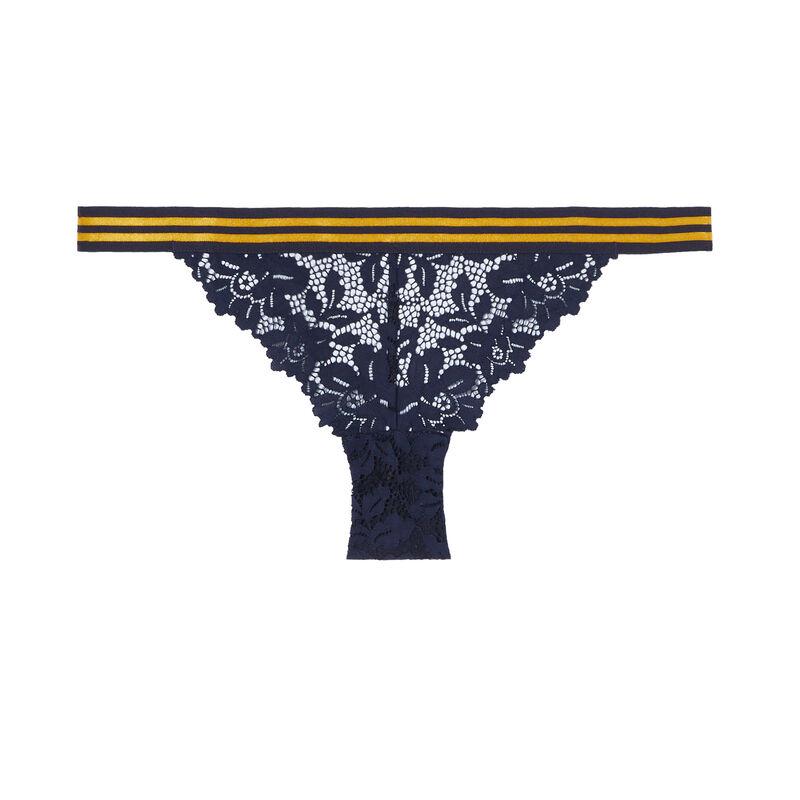 Braguita de encaje y elástico bicolor - azul;