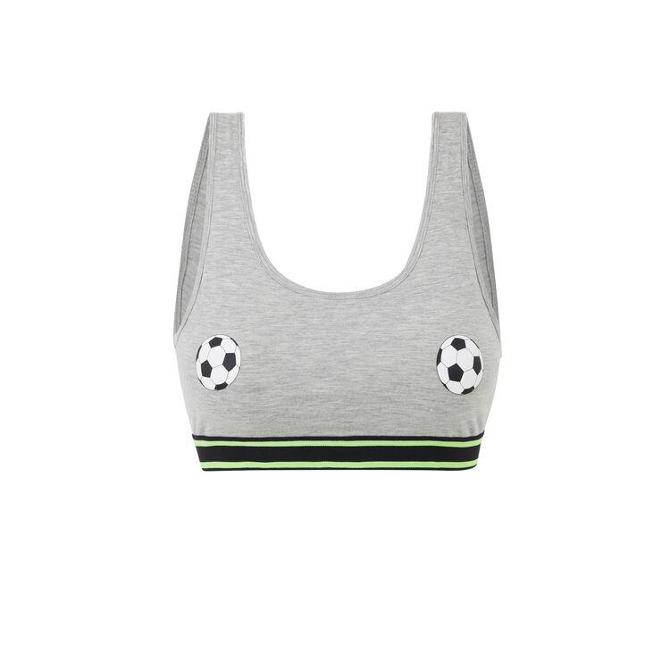 Brassière grise footballiz;