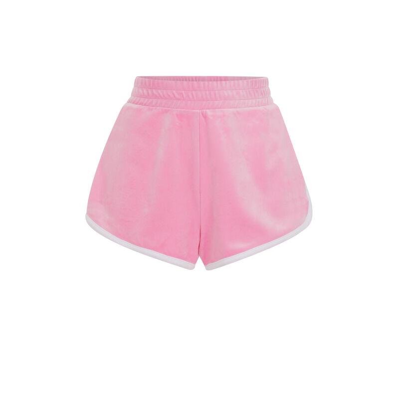 Short liso de terciopelo - rosa;